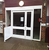 automatic aluminium swing door