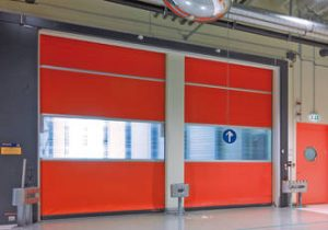 High speed rapid roll shutter doors