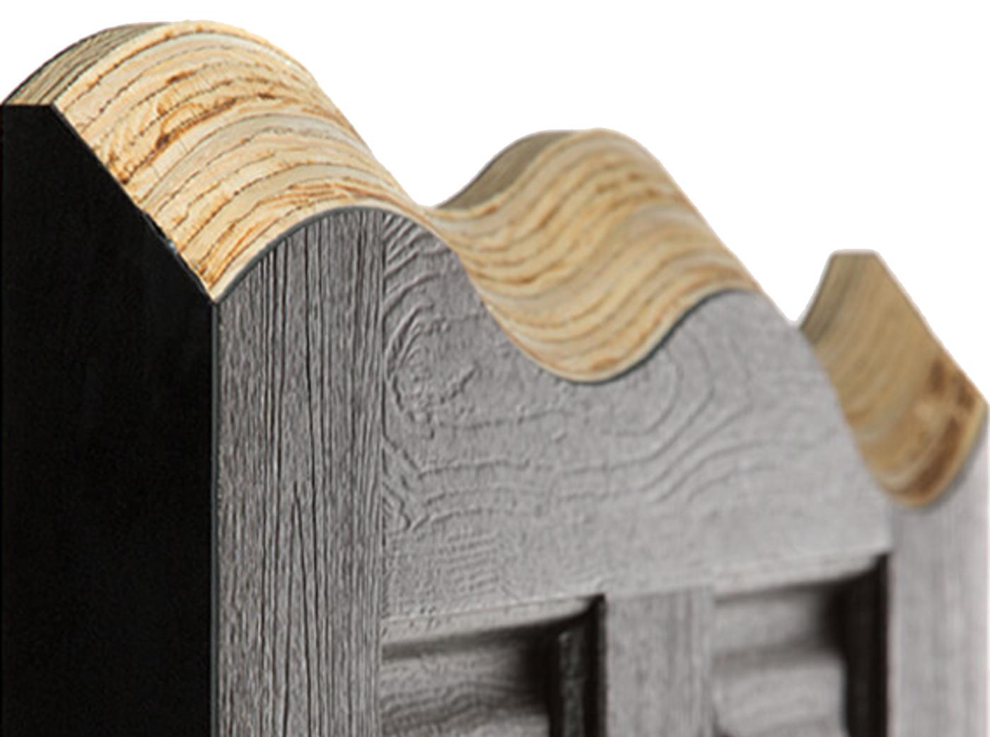 Solid timber core of door