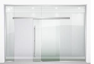 all glass sliding door